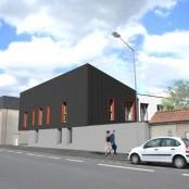Façade 2 résidence Habitat jeunes Chemillé
